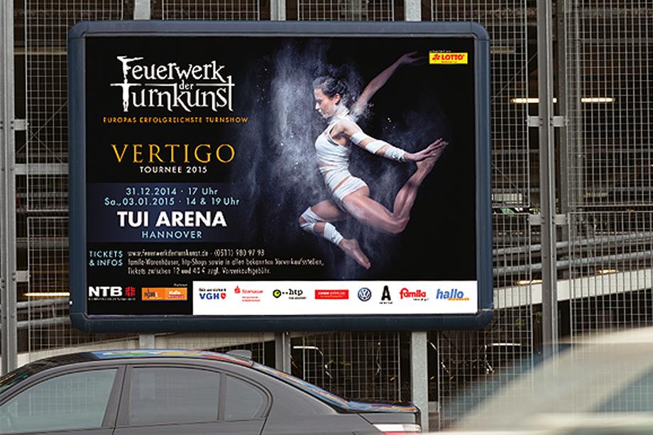 Markenrelaunch und crossmediale Kampagne für das »Feuerwerk der Turnkunst« | Auftraggeber: Turn- und Sportfördergesellschaft mbH
