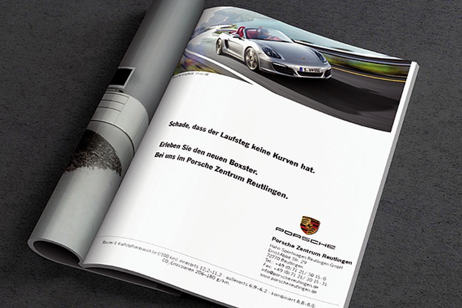 Boxster Anzeige »Modemagazin« | Porsche Deutschland GmbH | Auftraggeber: Chromedia Dialogmarketing GmbH