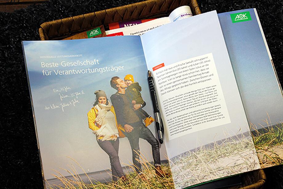 Vertriebsbroschüre | AOK Niedersachsen | Auftraggeber: Kochstrasse – Agentur für Marken GmbH
