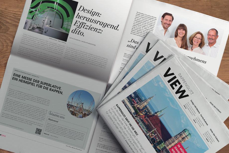 Kundenmagazin VIEW | Max Rappenglitz GmbH  | Auftraggeber: Atelier Sommerstrasse