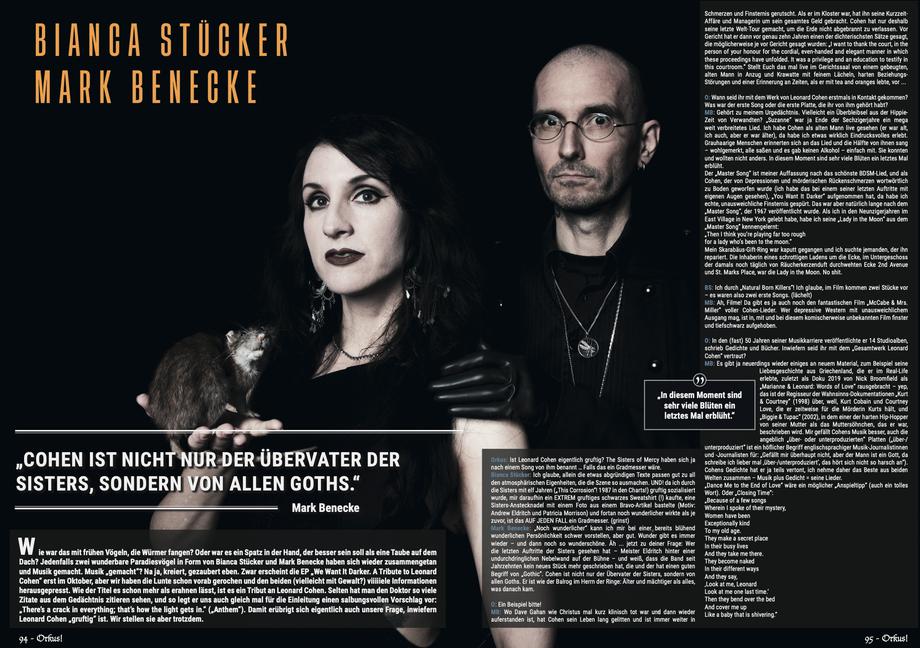 Passend zum Covershooting - Orkus - großes Interview zur neuen Single - we want it darker - Benecke & Stücker