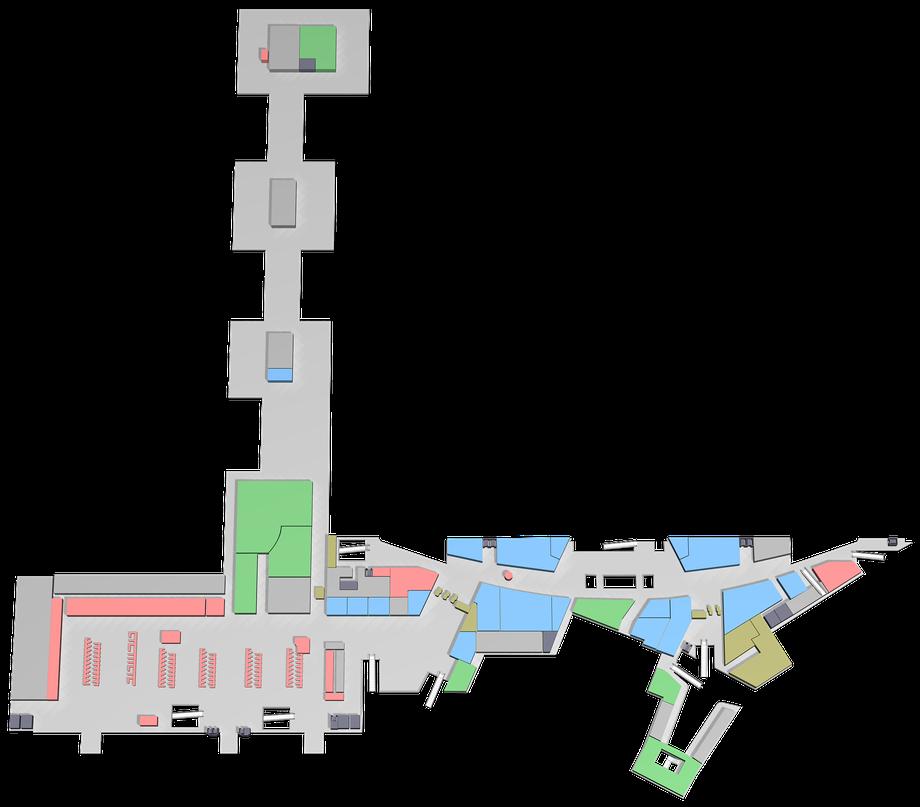 Zürich Airport — Airside und Dock 1 — Ebene 2