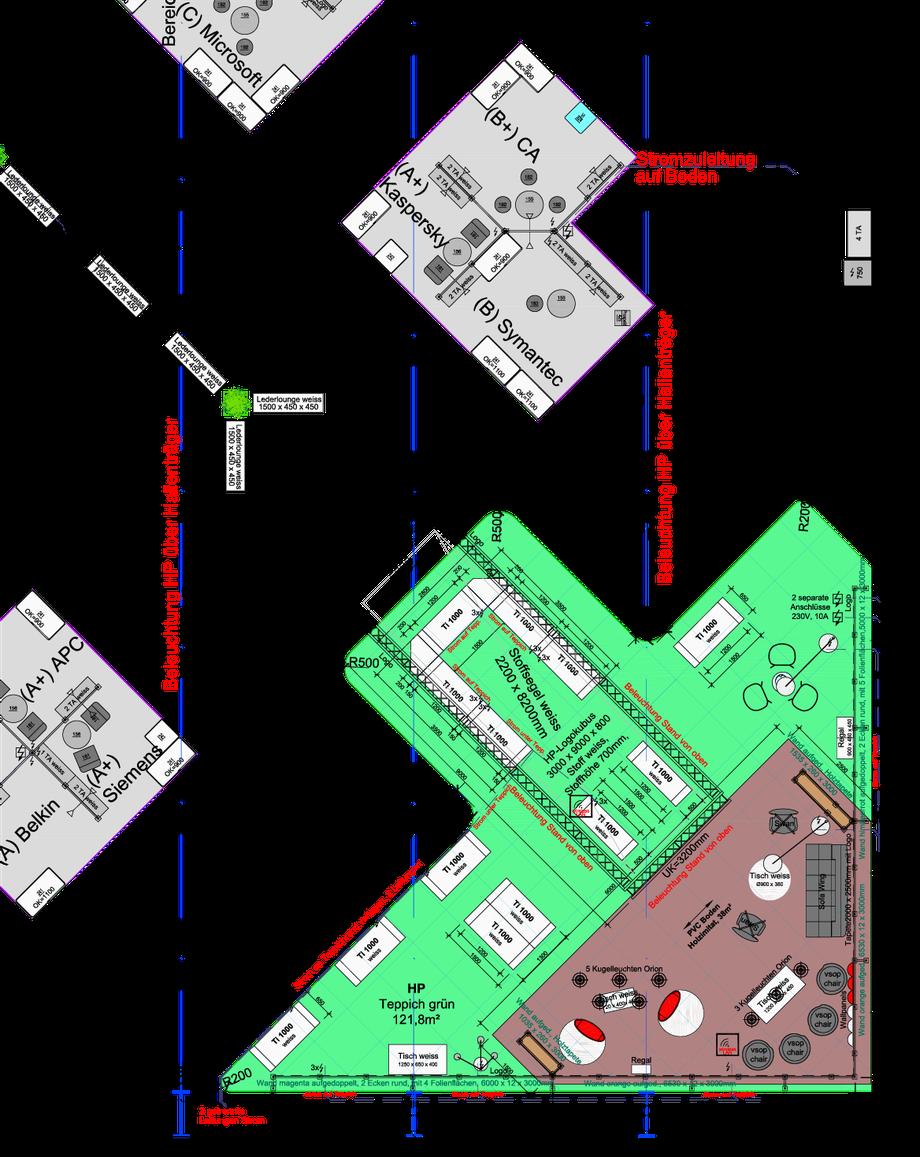 Grundriss vom HP-Stand