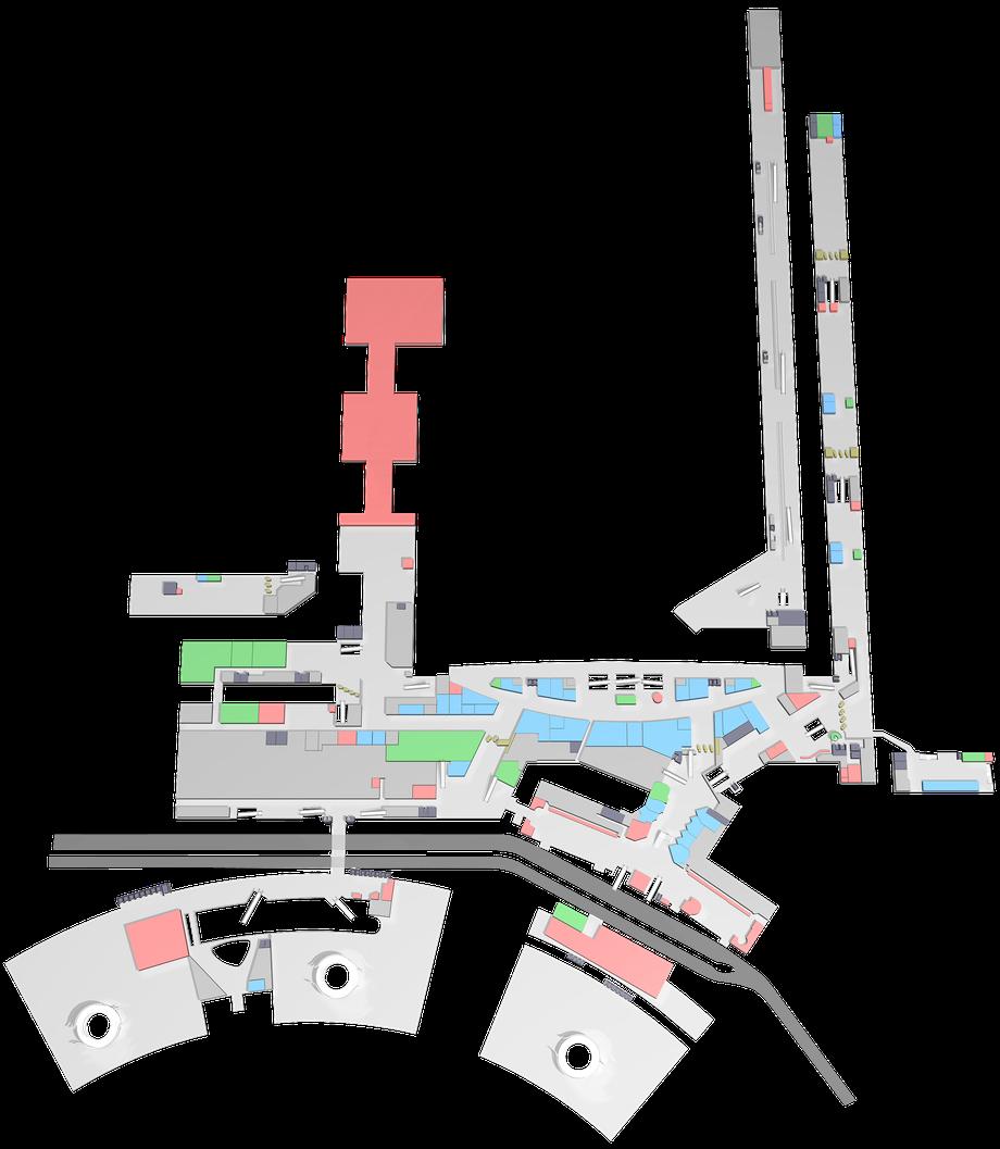 Zürich Airport — Airside und Dock 1 und 2 — Ebene 1