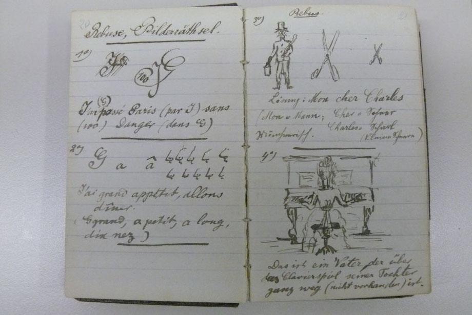 Bild 1: Schriftprobe von Rudolf Diesel im Alter von 11 bis 12 Jahren