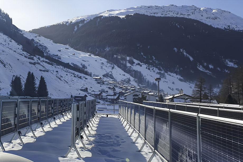 Winterstromanlage von Solarspar in Vals