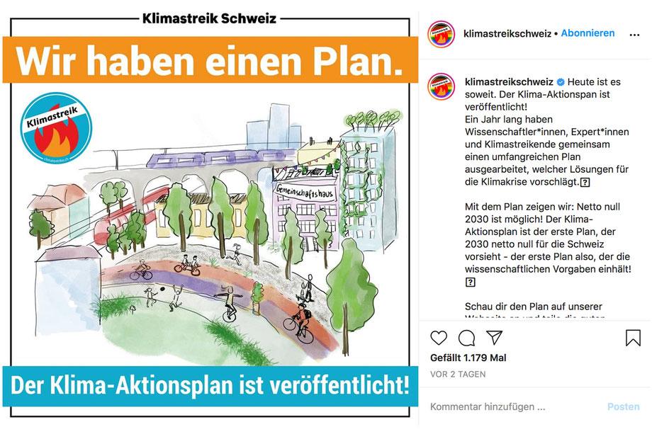 Bild: Instagram @klimastreikschweiz