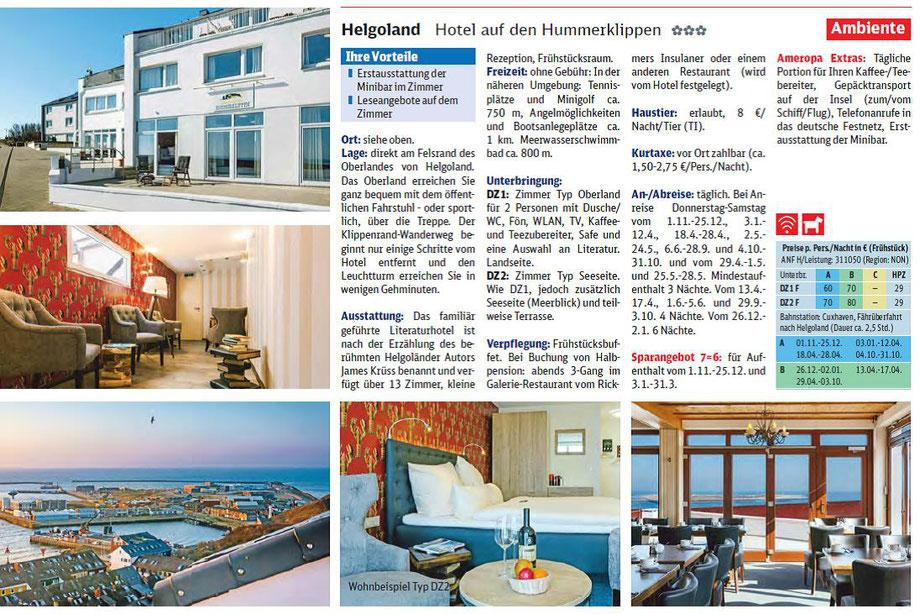 Helgoland und Meer bei Singer reisen und Versicherungen buchen...