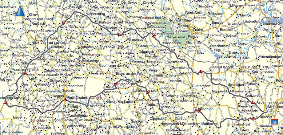 Gesamtstrecke 376 km