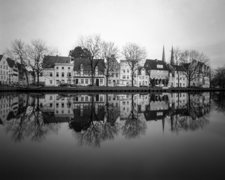 large format pinhole photo of the Malerwinkel in Lübeck
