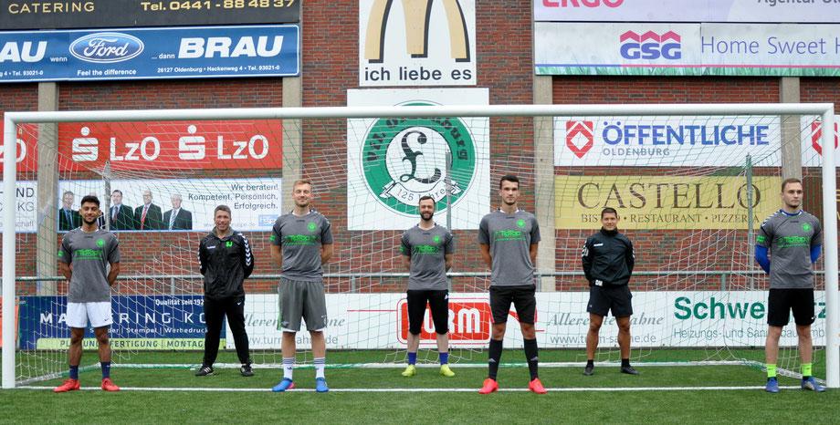 Saber Mokhtari (Tura 73 3.), Sandro Brünink (Concordia Ihrhove), Oguz Deniz (zuletzt TSV Oldenburg), Sebastian Wendland (TV Bunde), Dennis Mooy (BV Cloppenburg spielender Co), Fabio Pleus (VfB 2)
