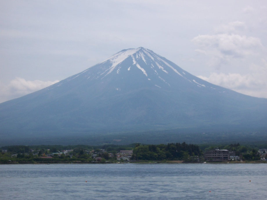 Mt. Fuji from Lake Kawaguchi Yamanashi prefecture mountain Japanese famous tourist spot world heritage 山梨県河口湖からの富士山 日本有名観光地 世界遺産
