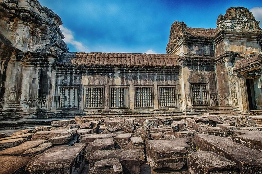 Inner Bereich der Tempelanlage in Anfkor Wat Kambodscha © Jutta M. Jenning mjpics