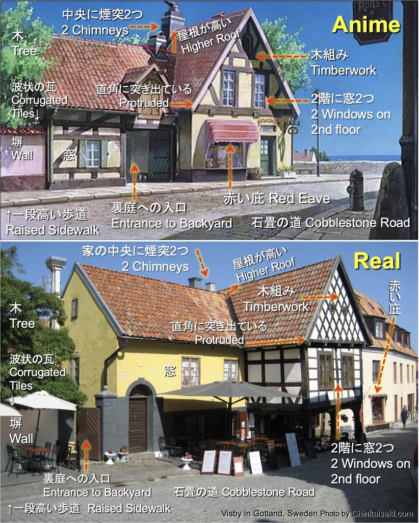 魔女の宅急便、グーチョキパン店のモデル Visby, Gotland, Sweden on Kiki's Delivery Service
