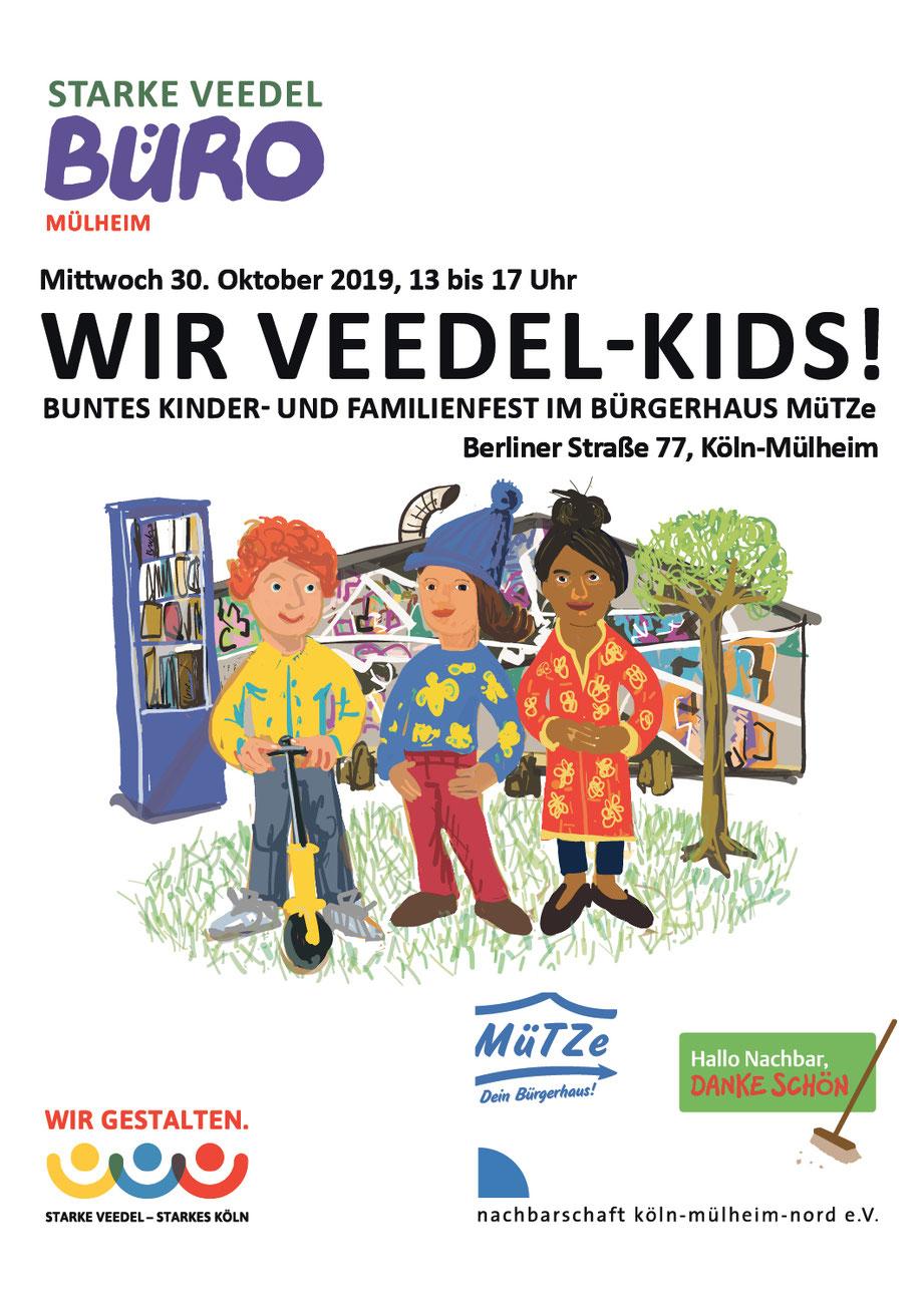 """Plakat """"Wir Veedel-Kids!"""""""
