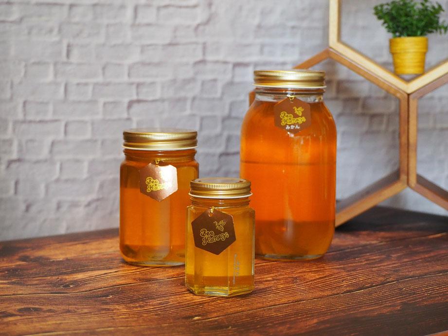 フルーティな甘酸っぱさが爽やかな蜂蜜,国産純粋蜂蜜,みかんはちみつ,Bee Honey,はちみつオンライン通販ビーハニー
