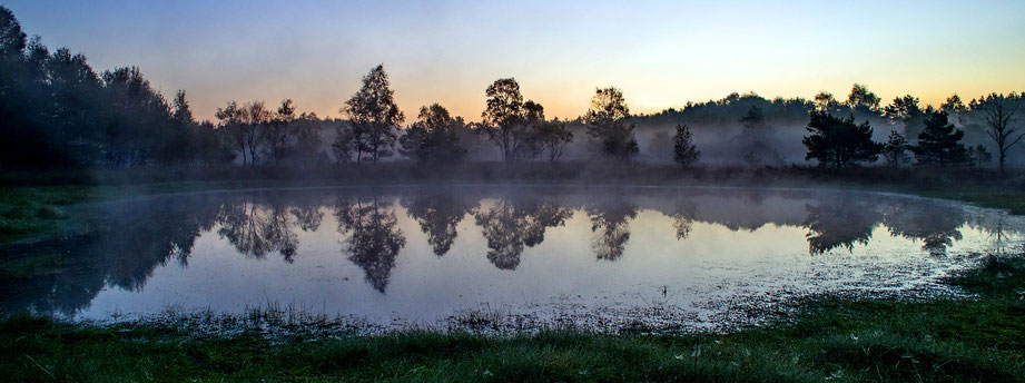 Gildehauser Venn: Sonnenaufgang im September 2016