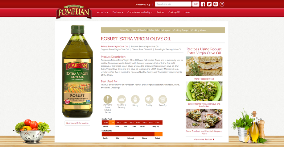 (Bild: Screenshot Pompeian-Website www.pompeian.com