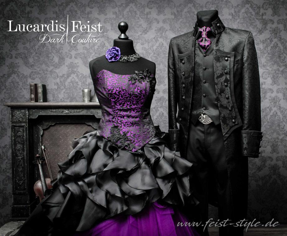 schwarzes Brautkleid, ausgefallene Ballkleider, Designerkleider