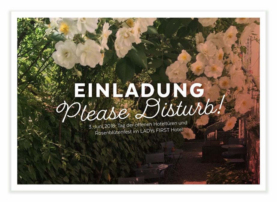 "Sonntag 3. Juni heisst es ""Please Disturb!"" beim LADYs FIRST Hotel im Seefeld. www.pleasedisturb.ch"