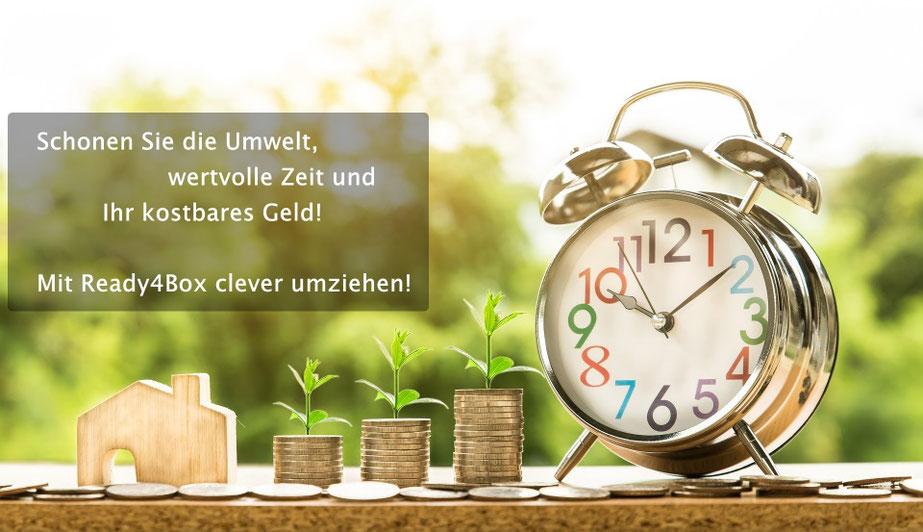 Schonen Sie die Umwelt, wertvolle Zeit und Ihr kostbares Geld! Mit Ready4box clever umziehen!