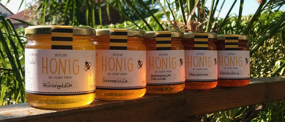 Unsere Honige 2019- im 250g und 500g Glas!
