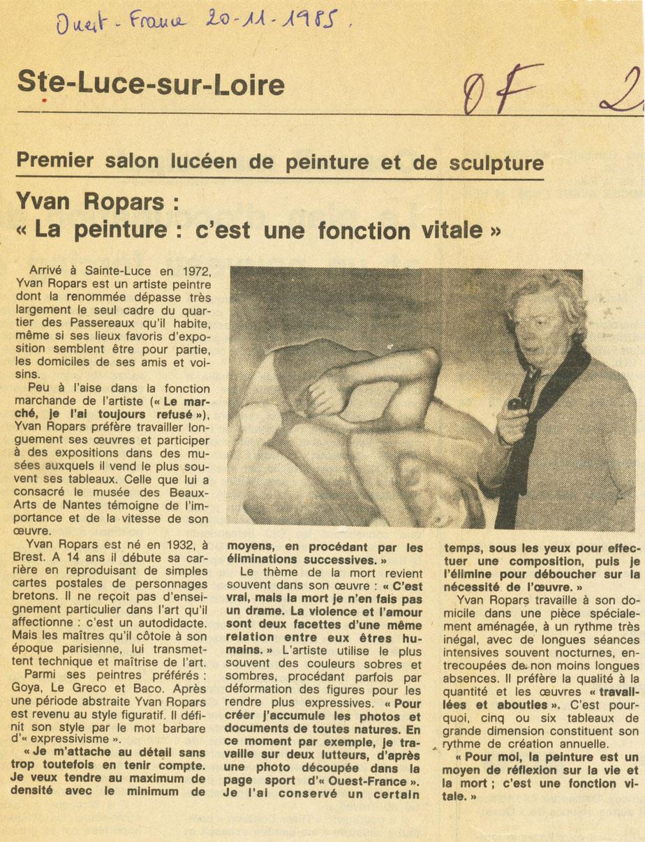 Ouest-France 20 novembre 1985