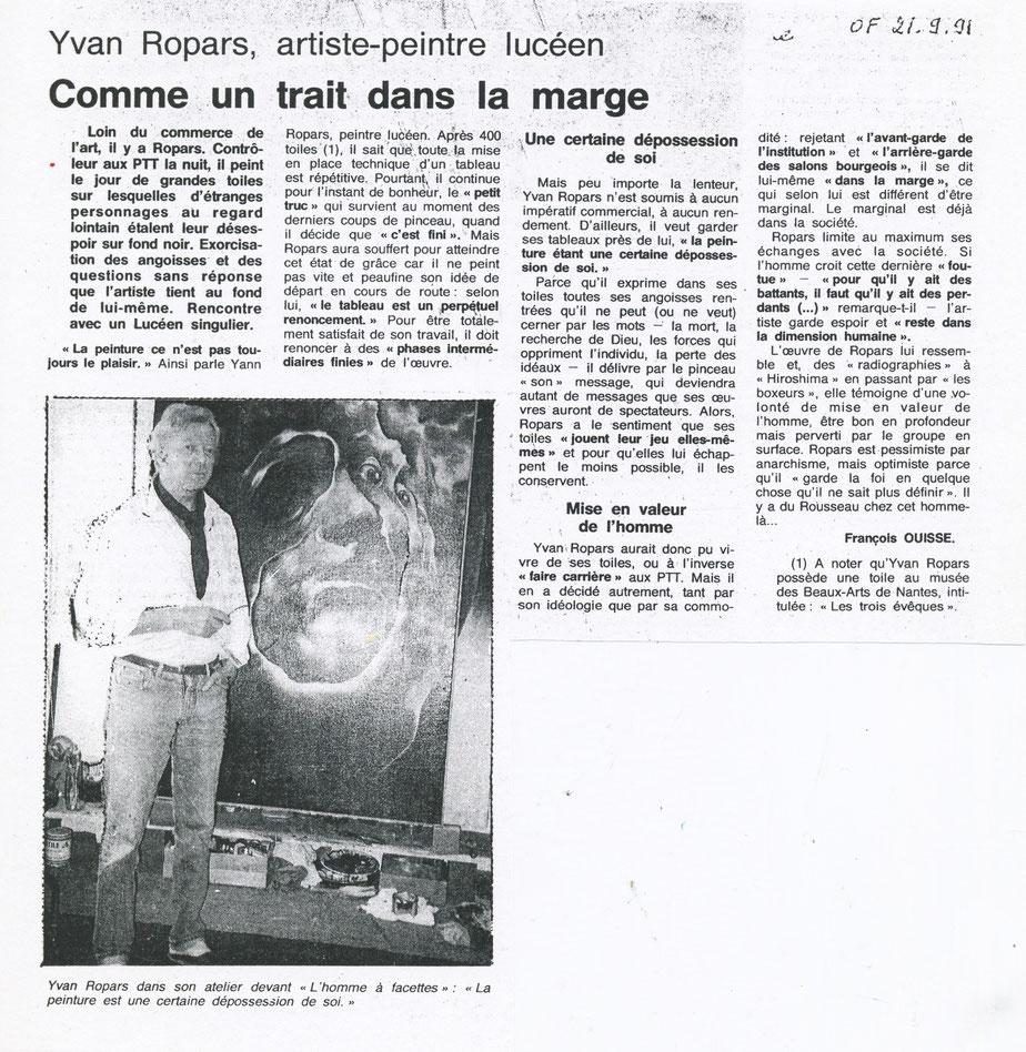 Ouest-France 21 septembre 1991