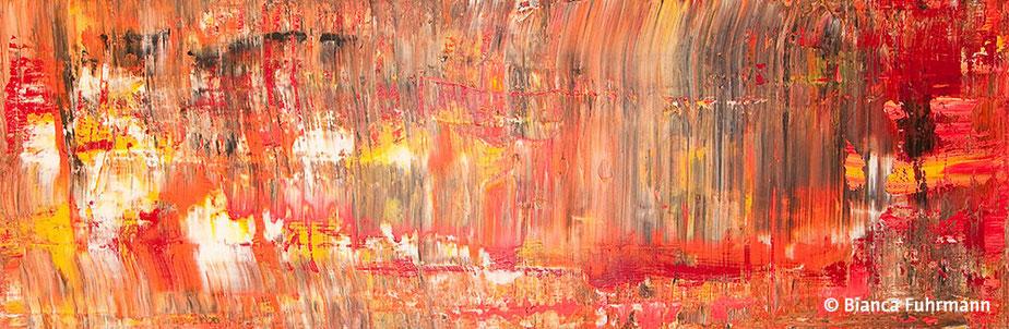 Rot - Acryl auf Leinwand - (c) Bianca Fuhrmann