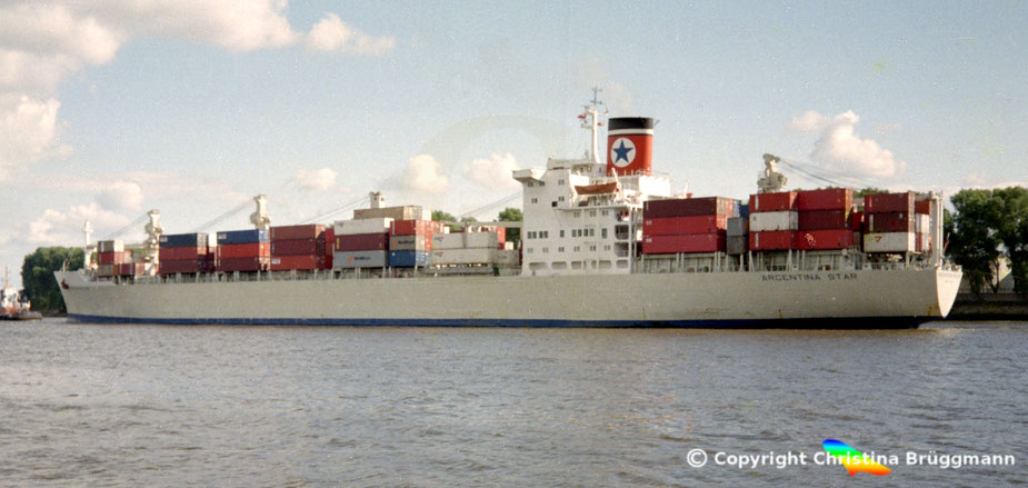 "Blue Star Kühlcontainerschiff ""ARGENTINA STAR"" 1996"