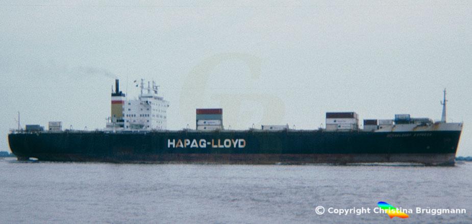 "Hapag-Lloyd Containerschiff ""DÜSSELDORF EXPRESS"" 1984"
