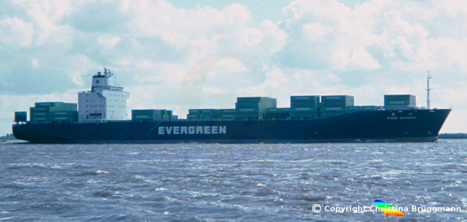 "Evergreen Containerschiff ""EVER GARDEN"" 1985"