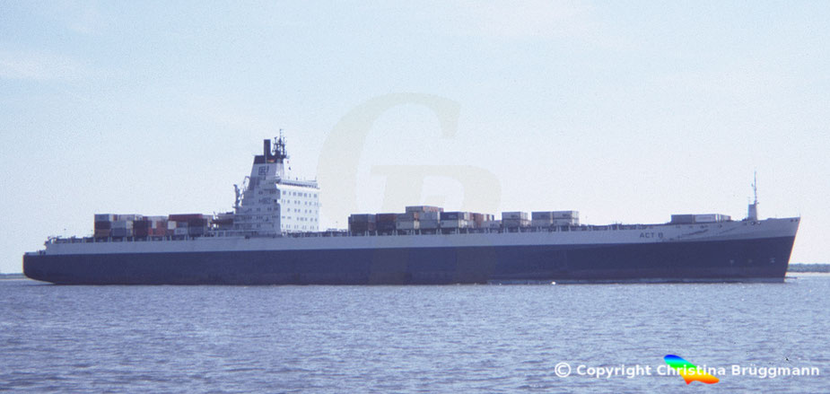 "Containerschiff der 3. Generation ""ACT 8"" 1986"