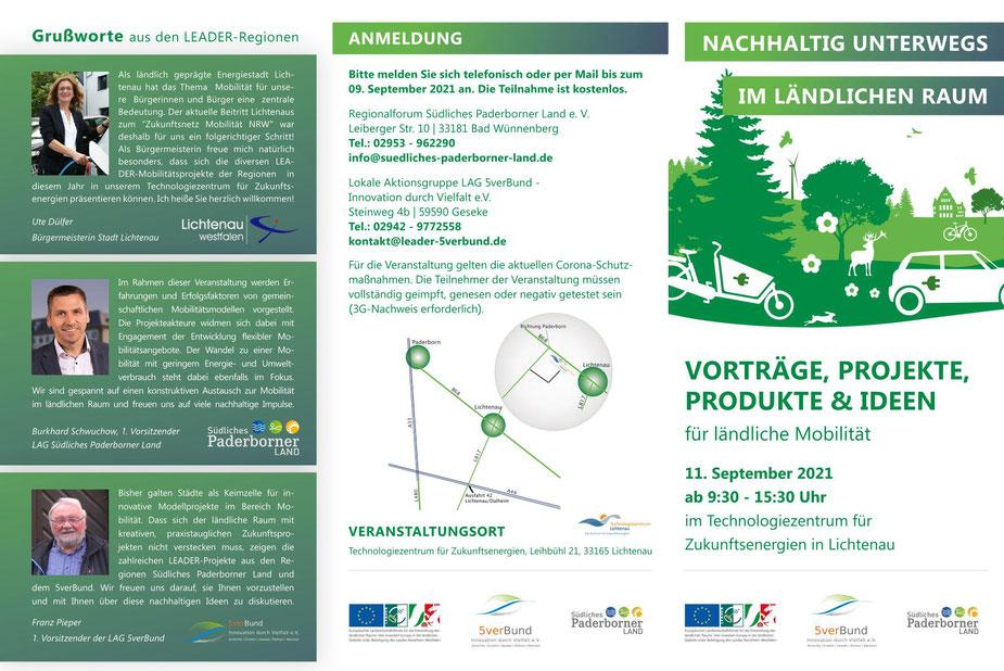 Nachhaltig unterwegs im ländlichen Raum ist der Titel des Aktionstages in Lichtenau