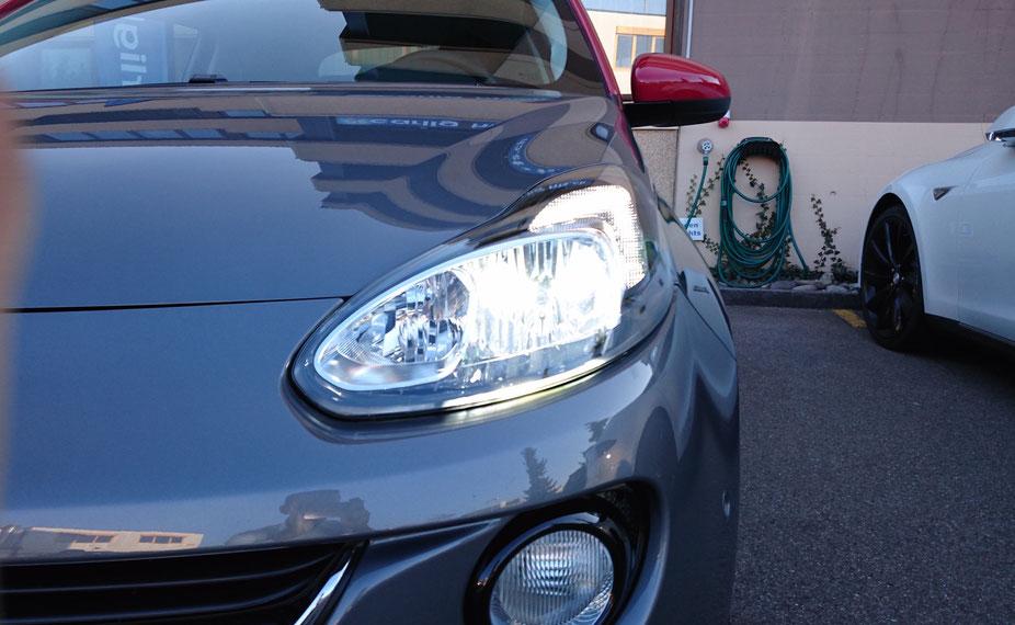 Neuer Opel ADAM S komplett auf LED umgerüstet:  Abblendlicht Innen Aussen Nebel Rückfahrlicht und Kennzeichenbeleuchtung