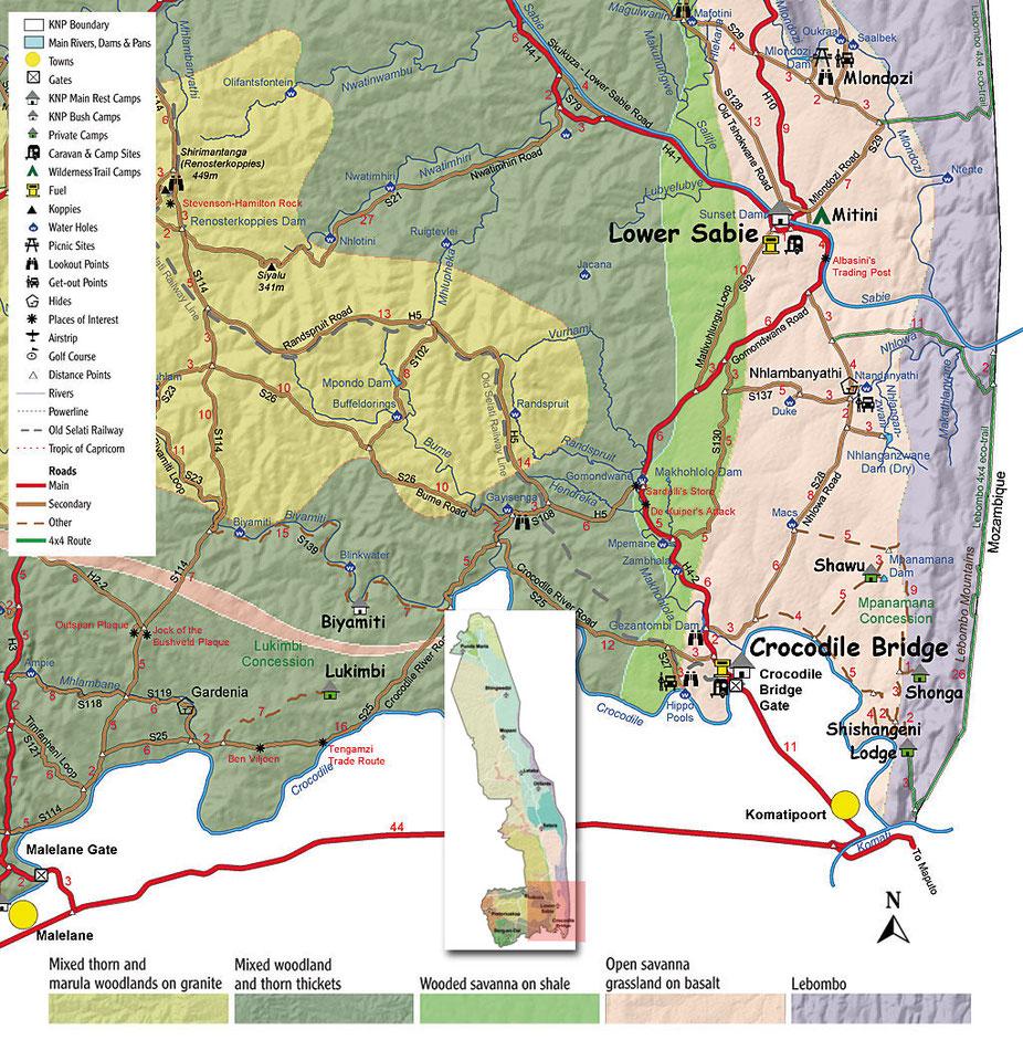 Lower Sabie dans le Sud du parc Kruger