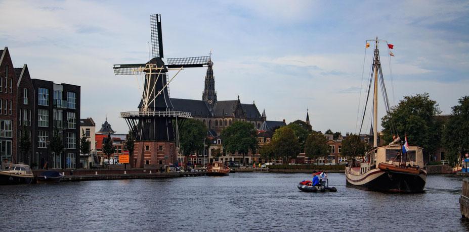 Haarlem vom Wasser aus gesehen