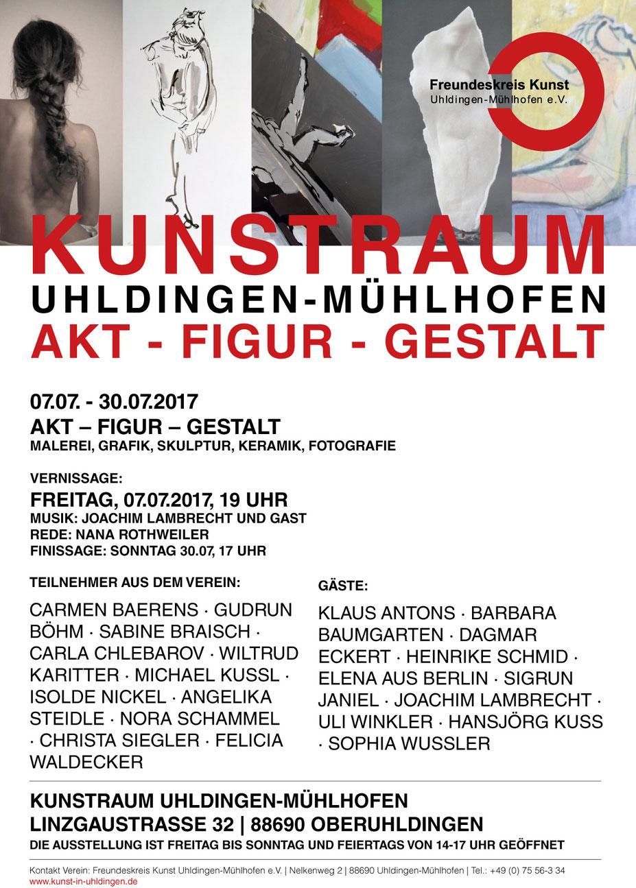 Carla Chlebarov - Akt-Figur-Gestalt Kunstraum Uhldingen Mühlhofen 2017