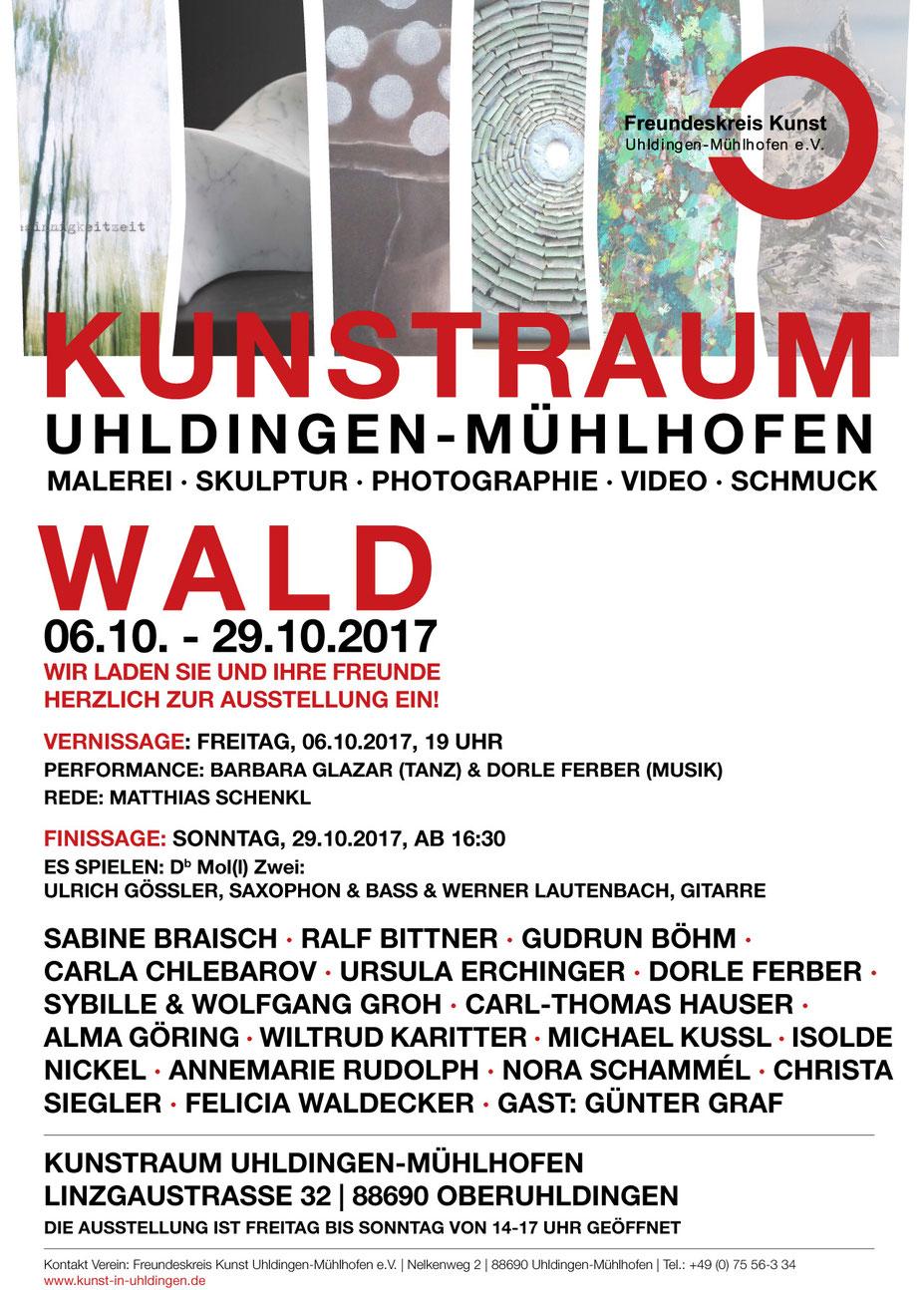 Carla Chlebarov - Wald Kunstraum Uhldingen Mühlhofen 2017