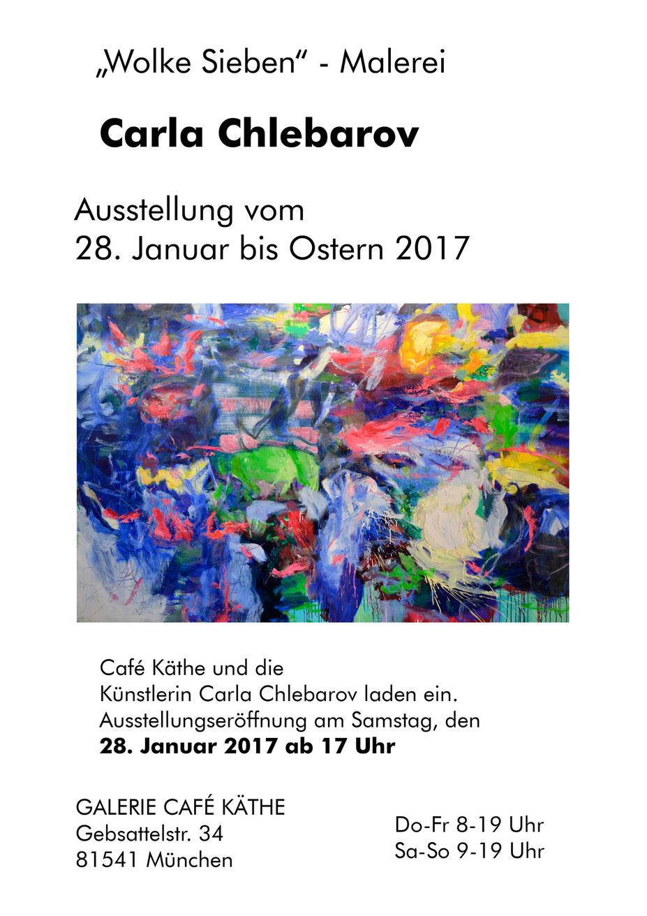Carla Chlebarov - Wolke Sieben Galerie Cafe Käthe 2017