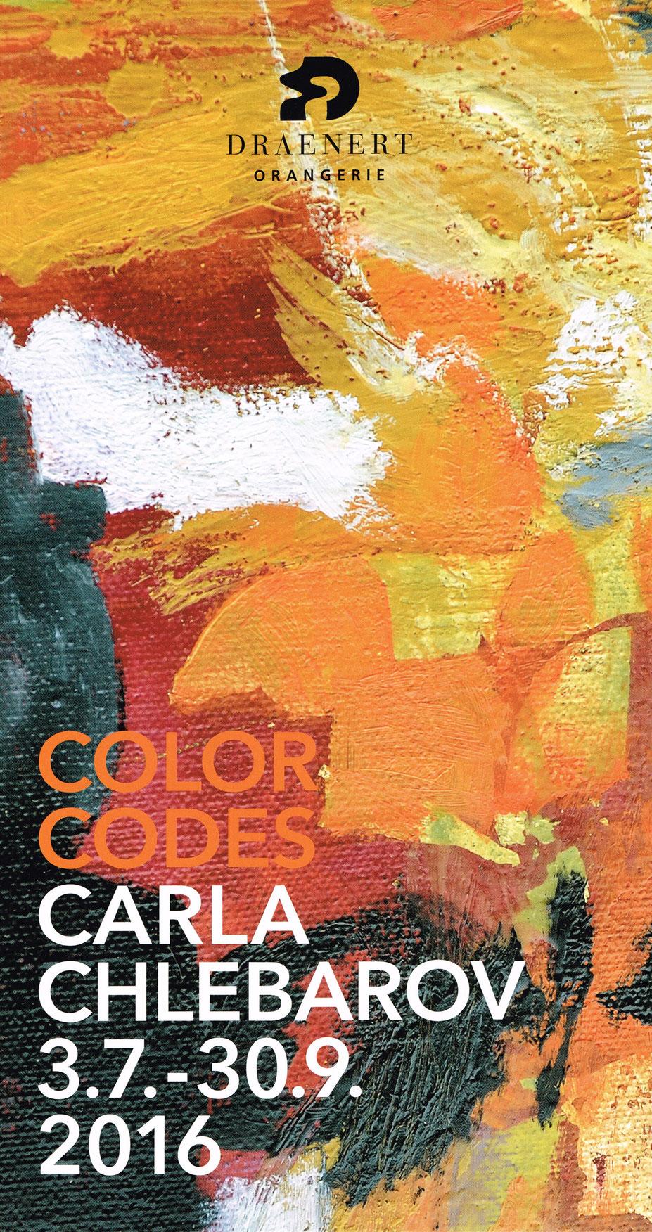 Carla Chlebarov - Color Codes Draenert Orangerie 2016