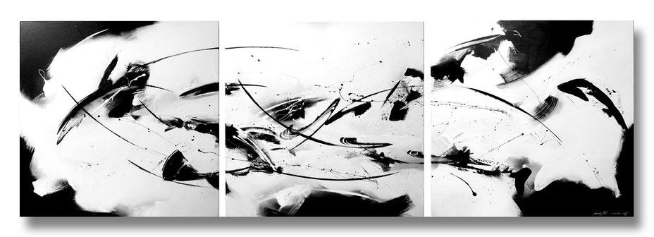 """""""Abstrakt"""" - Mischtechnik auf Leinwand - 3x60x60"""