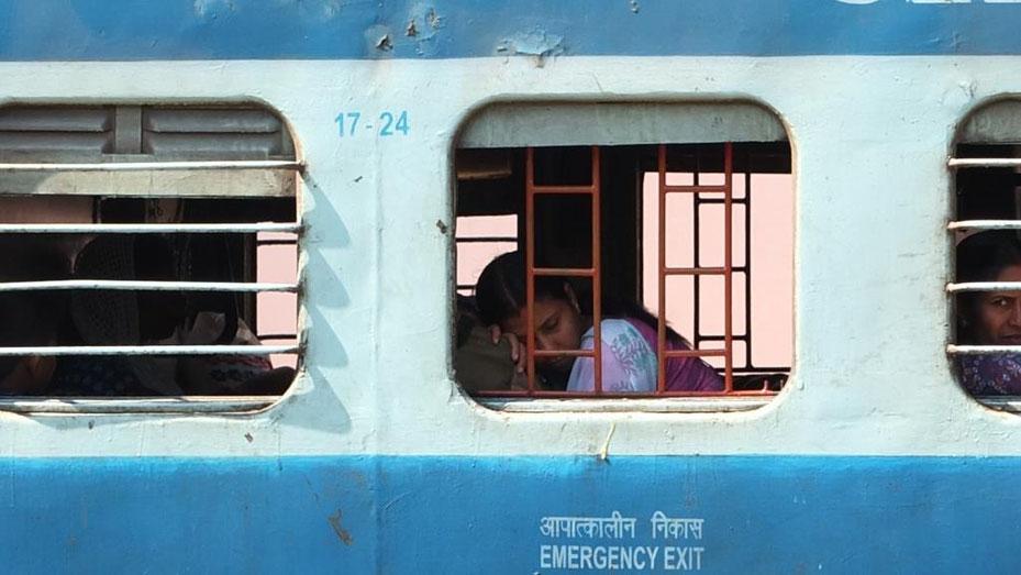 Dieses Bild ist am Bahnhof in Varkala, Kerala entstanden