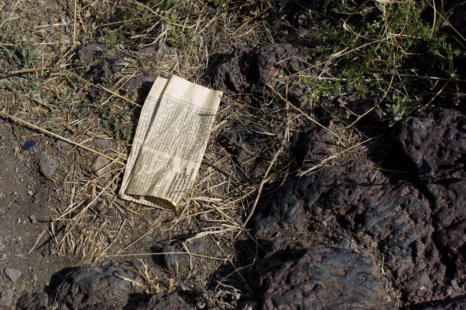 Wandern in den Bergen und Tälern Armeniens, Müll ist allgegenwärtig