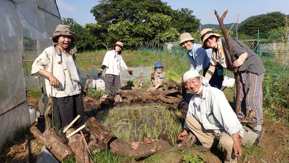 ビオトープづくりで農業体験&お米づくり@さとやま農学校