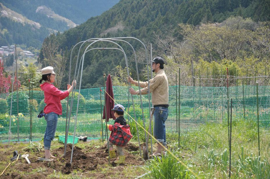 家族で農業体験&野菜作り@さとやま農学校