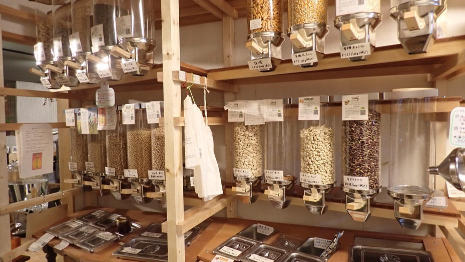 古代小麦や雑穀・豆の量り売りnue@国分寺カフェスロー