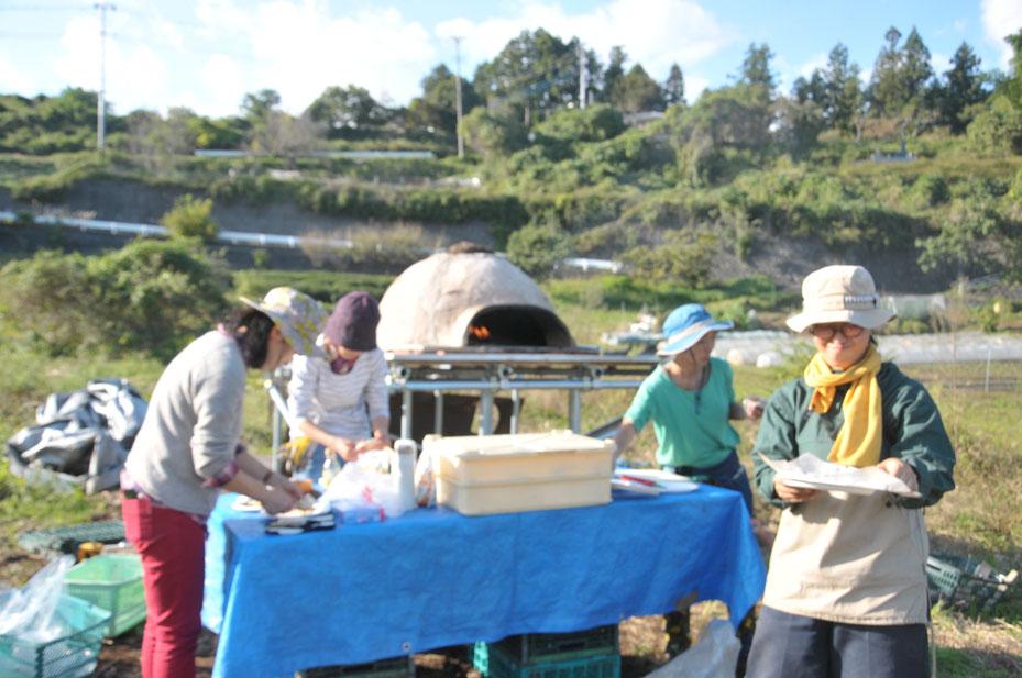 石窯づくり体験 ピザ焼き体験 農業体験神奈川 体験農場神奈川
