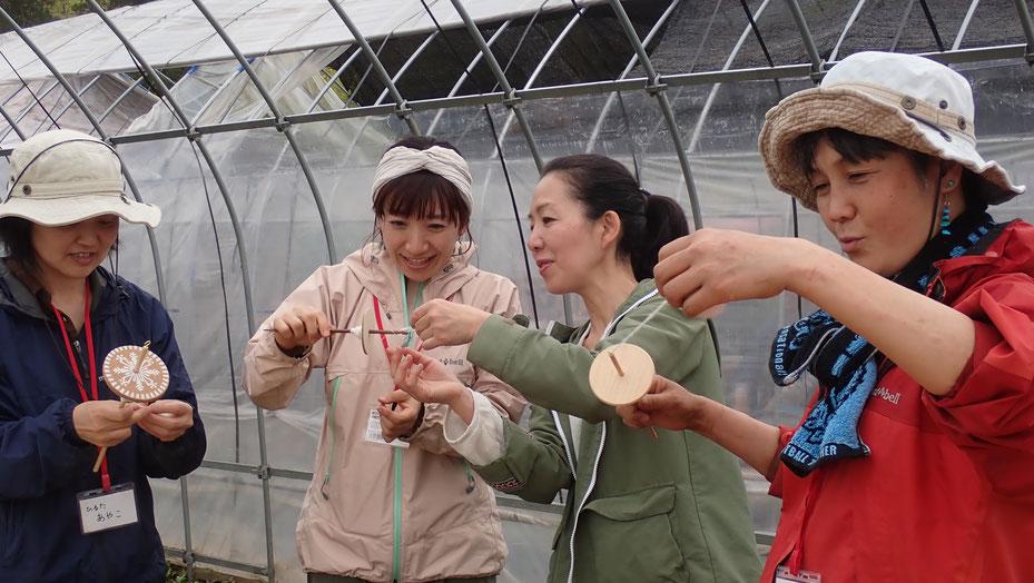 オーガニックの綿を育てて紡ぐ・染める さとやま農学校@すどう農園