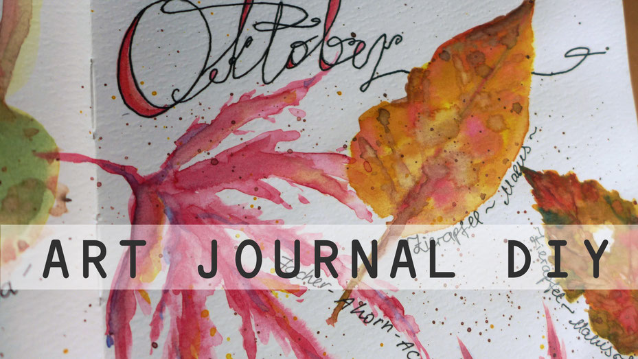 Art Journal - Mein Gartenjahr - Oktober - DIY-Projekt